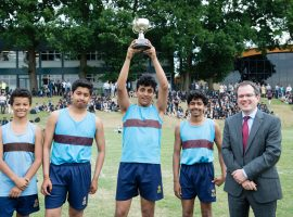 Sports Day 2017: boys relish the joy of taking part, while Harrisons' savours its big win