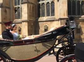 "Wonderful and buzzing! QE pupil's unforgettable day inside Windsor Castle at the ""perfect"" royal wedding"
