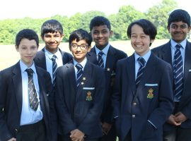 Helping hand from older boys leads to shining success in national competition for QE's youngest mathematicians
