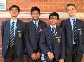 Meeting with a great mind: QE team learn about a mathematical maestro while performing strongly at national challenge finals