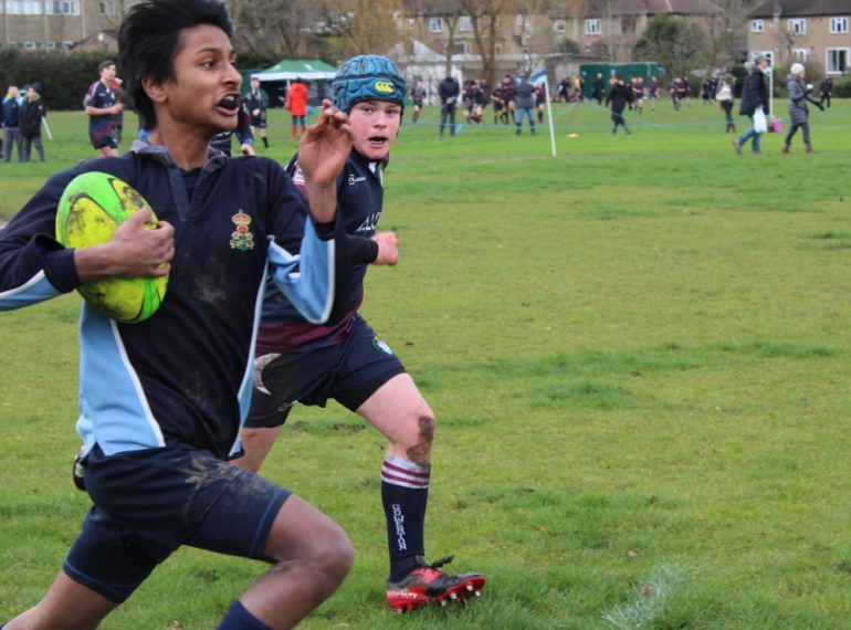 Rugby Sevens: home team battles in the 'group of death' as Eton notches up tournament first