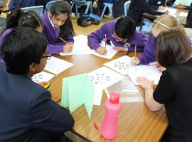 Busy as bees! Visiting primary pupils enjoy words and numbers challenge