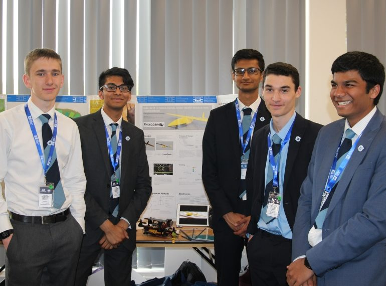 Spoken like a champion: sixth-formers win oral presentation prize in international technology competition