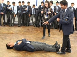 Stagecraft and witchcraft as boys get to grips with Macbeth