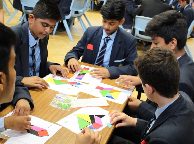 Fair shares: Pearce take main prize while Broughton win poster award in Year 7 Mathematics competition