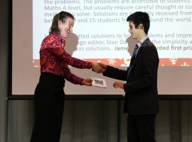 Mathematician James' competition success is a QE first