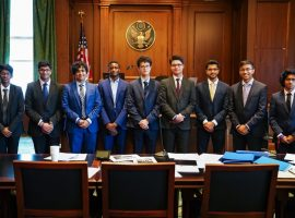 'Professional, persuasive, incisive': judges' verdict on QE sixth-formers in New York legal competition