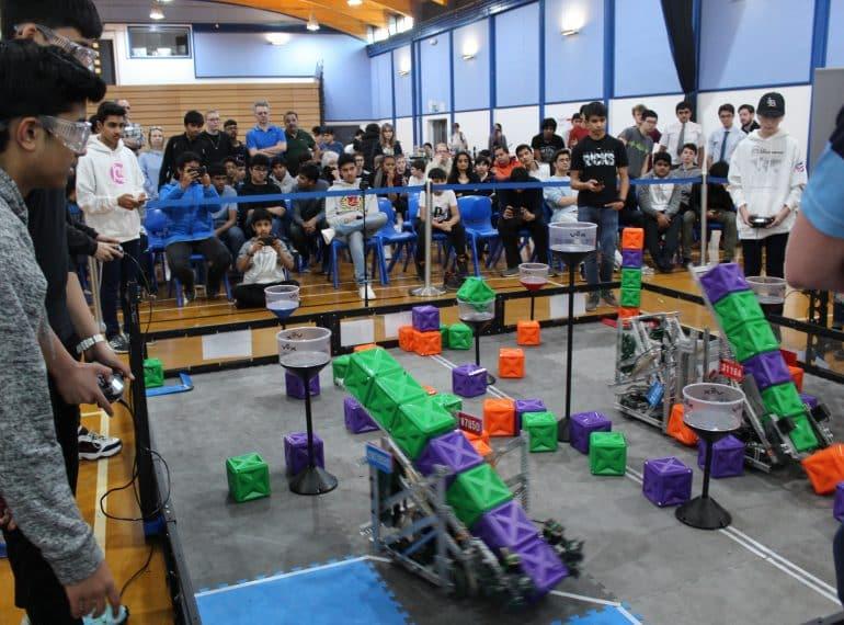 Skills, thrills and spills as QE hosts its first-ever senior robotics tournament