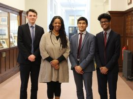 """If you get the grades, you belong"": first-ever black Master of an Oxbridge college speaks to QE sixth-formers"