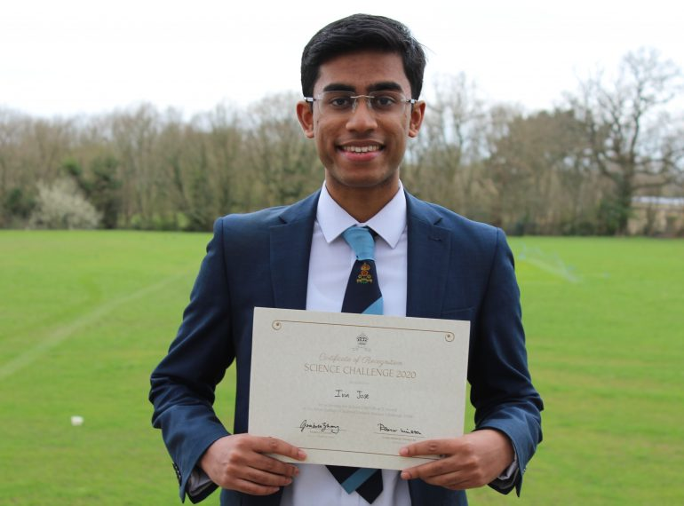 """On top of the world: School Captain's """"gentle yet captivating"""" feature wins him top national Science prize"""