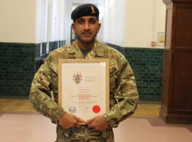 London livery company salutes Major Mev Armon's contribution to CCF