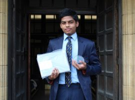 A winner again! Ashwin's scores success for QE in global technology competition
